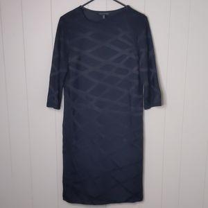 Ming Wang Black Criss Cross X Pattern Care…
